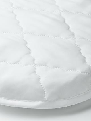 John Lewis & Partners Micro-Fresh Easy Care Moses Basket Mattress Protector