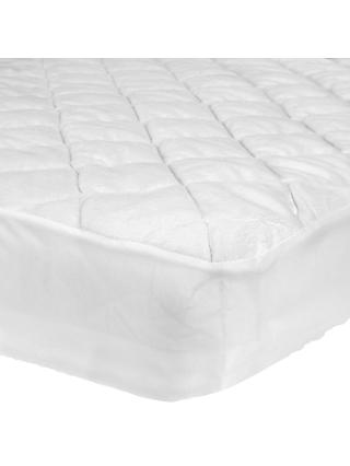 John Lewis & Partners Micro-Fresh Velour Cotbed Mattress Protector