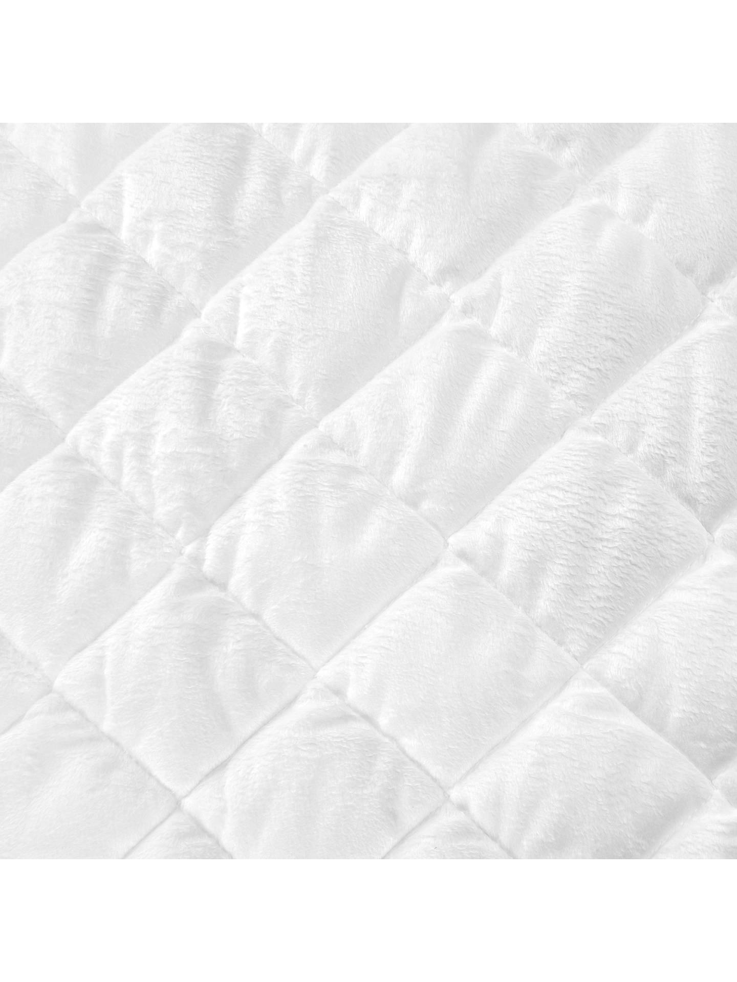 Buy John Lewis & Partners Micro-Fresh Velour Cotbed Mattress Protector Online at johnlewis.com