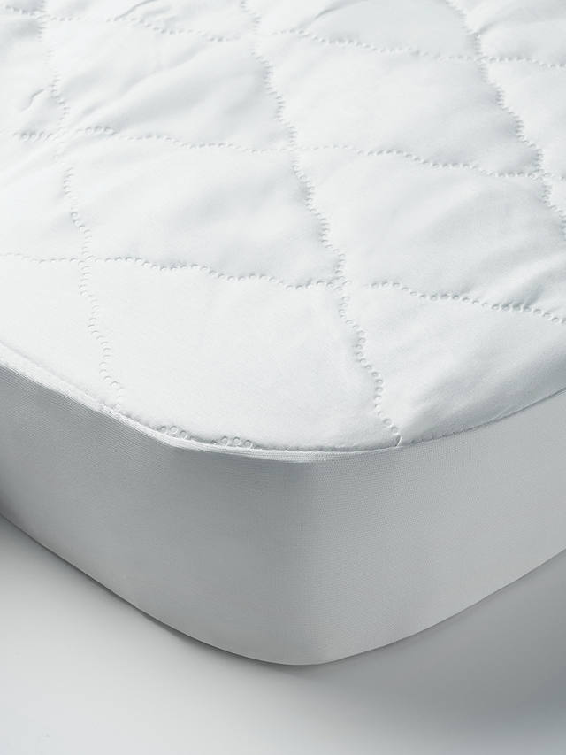 Buy John Lewis & Partners Micro-Fresh Easy Care Waterproof Cotbed Mattress Protector Online at johnlewis.com