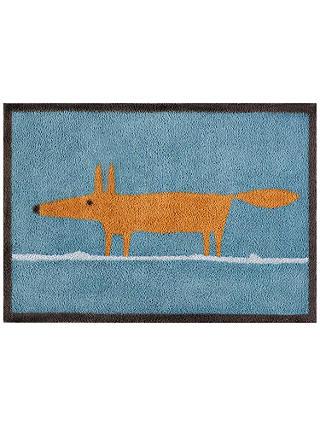 Scion Mr Fox Doormat Blue At John Lewis Amp Partners