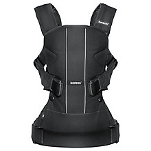 Buy BabyBjörn One Baby Carrier, Black Online at johnlewis.com