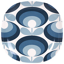 Buy Orla Kiely 70s Flower Melamine Plate, Small Online at johnlewis.com