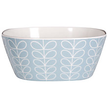 Buy Orla Kiely Linear Stem Blue Melamine Bowl, Small Online at johnlewis.com