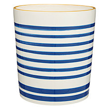 Buy John Lewis Salcombe Stripe Bathroom Bin, Nautical Blue Online at johnlewis.com