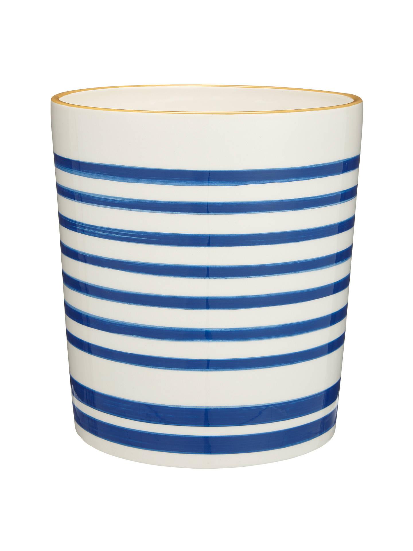 john lewis salcombe stripe bathroom bin nautical blue at