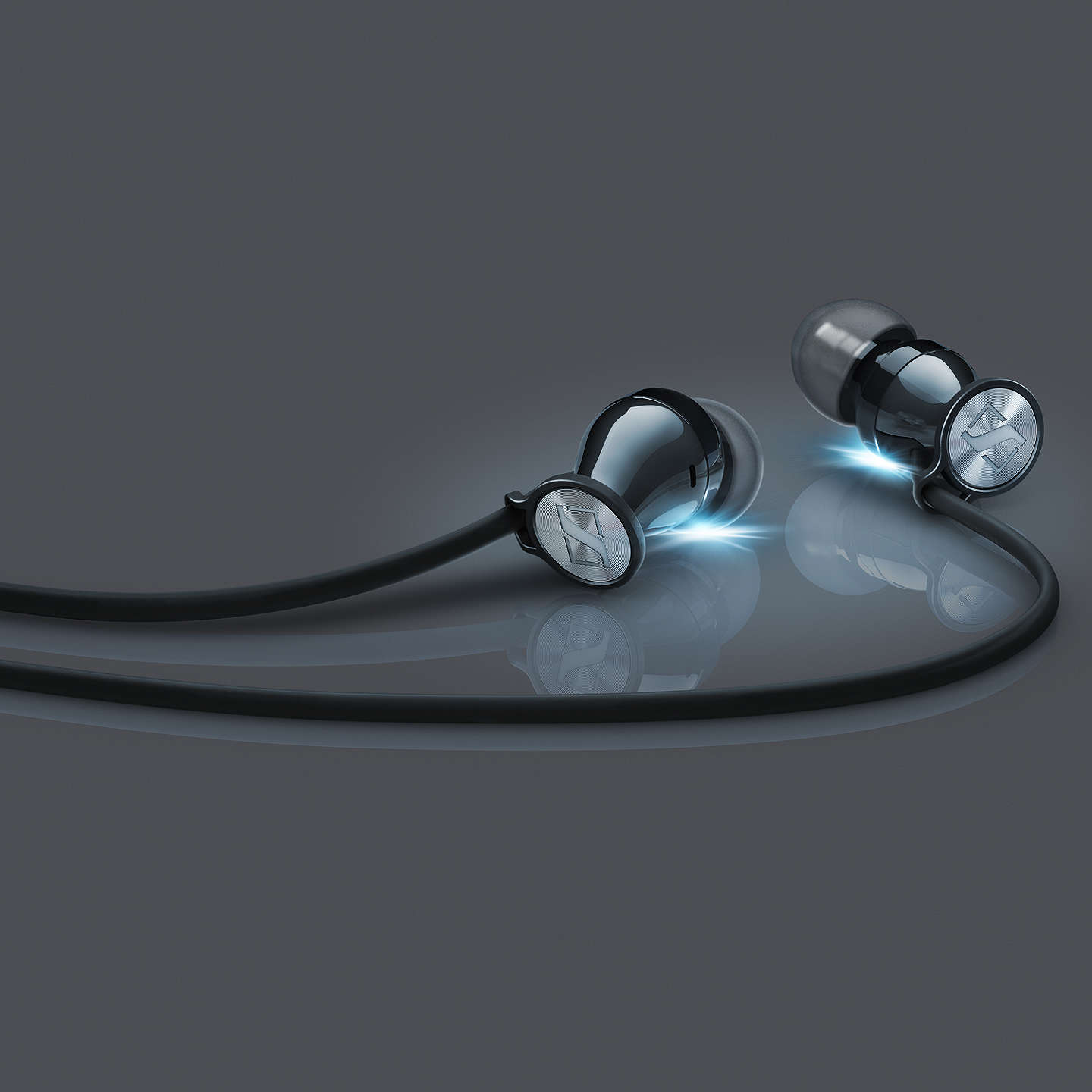 BuySennheiser MOMENTUM 2.0 I In-Ear Headphones with Mic/Remote for iOS Devices, Black/Chrome Online at johnlewis.com