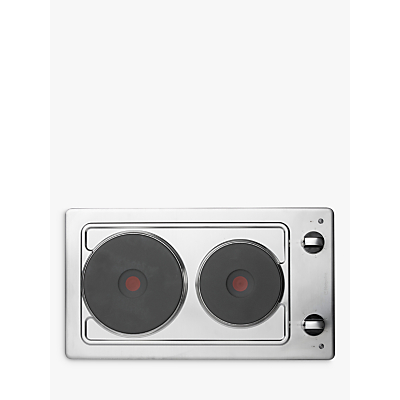 Image of Hotpoint E320SKIX 30cm Wide Two Zone Sealed Plate Hob - Stainless Steel