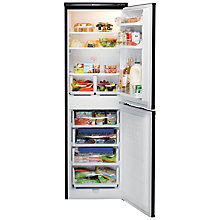 Buy Hotpoint Aquarius RFAA52K Freestanding Fridge Freezer, A+ Energy Rating, 54cm Wide, Black Online at johnlewis.com