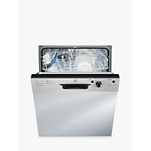 Buy Indesit DPG15B1NX Ecotime Semi-Integrated Dishwasher, Stainless Steel Online at johnlewis.com