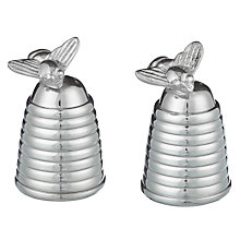 Buy Culinary Concepts Silver Plated Honey Bee Hive Salt & Pepper Cruet Set Online at johnlewis.com