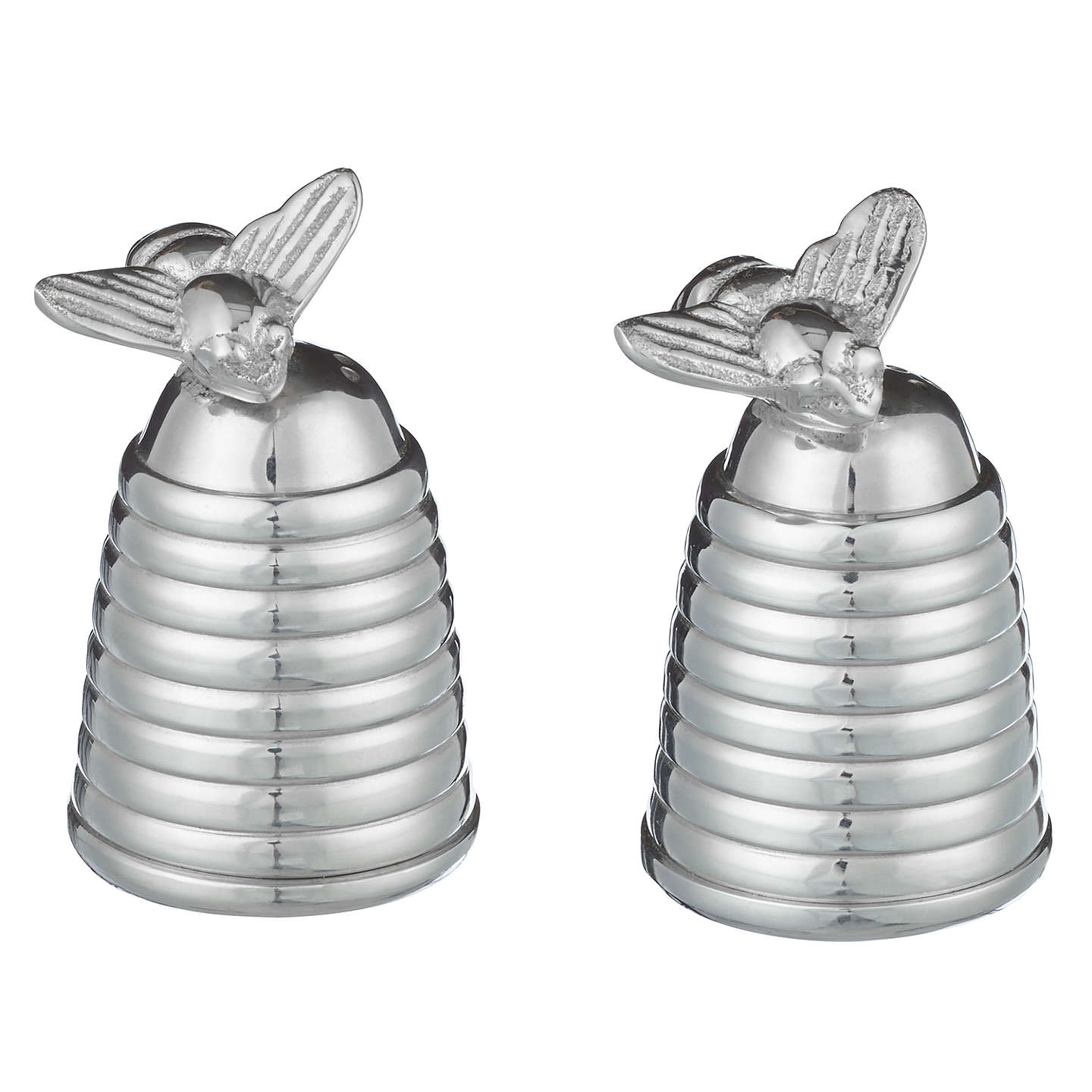BuyCulinary Concepts Silver Plated Honey Bee Hive Salt & Pepper Cruet Set Online at johnlewis.com