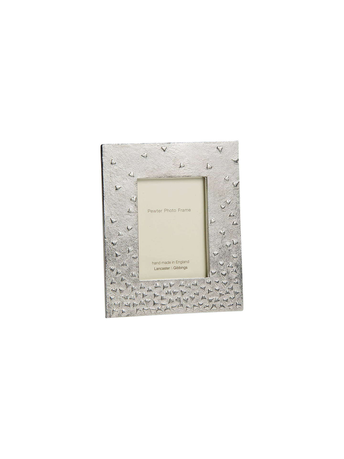 BuyLancaster and Gibbings Floating Hearts Pewter Photo Frame Online at johnlewis.com