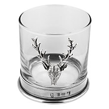 Buy English Pewter Company Single Stag Head Tumbler Online at johnlewis.com