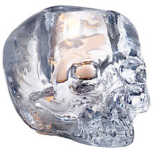 Buy Kosta Boda Still Life Skull Votive Candle Holder, Clear Online at johnlewis.com