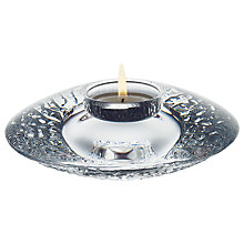 Buy Orrefors Discus Votive Candle Holder, Clear Online at johnlewis.com