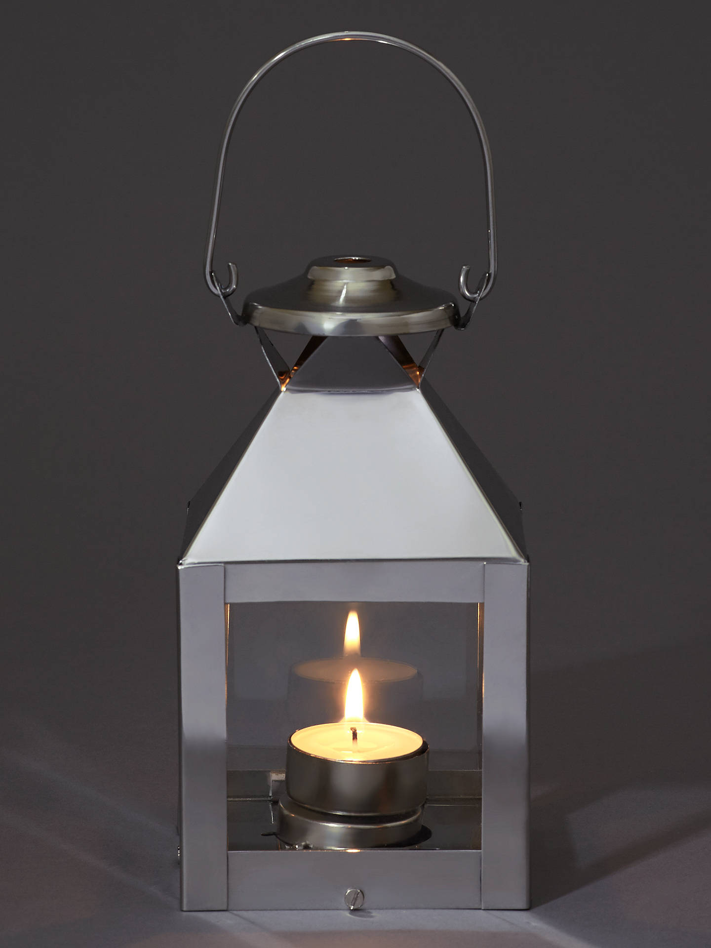 BuyJohn Lewis & Partners Mini Square Aluminium Lantern Online at johnlewis.com