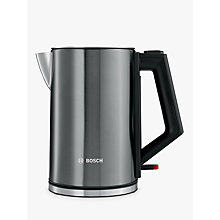 Buy Bosch TWK7105GB Stainless Steel Kettle, Anthracite Online at johnlewis.com