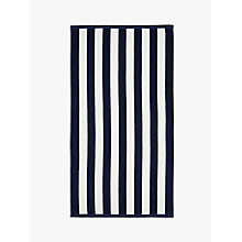 Buy John Lewis Deckchair Stripe Beach Towel, Navy Online at johnlewis.com