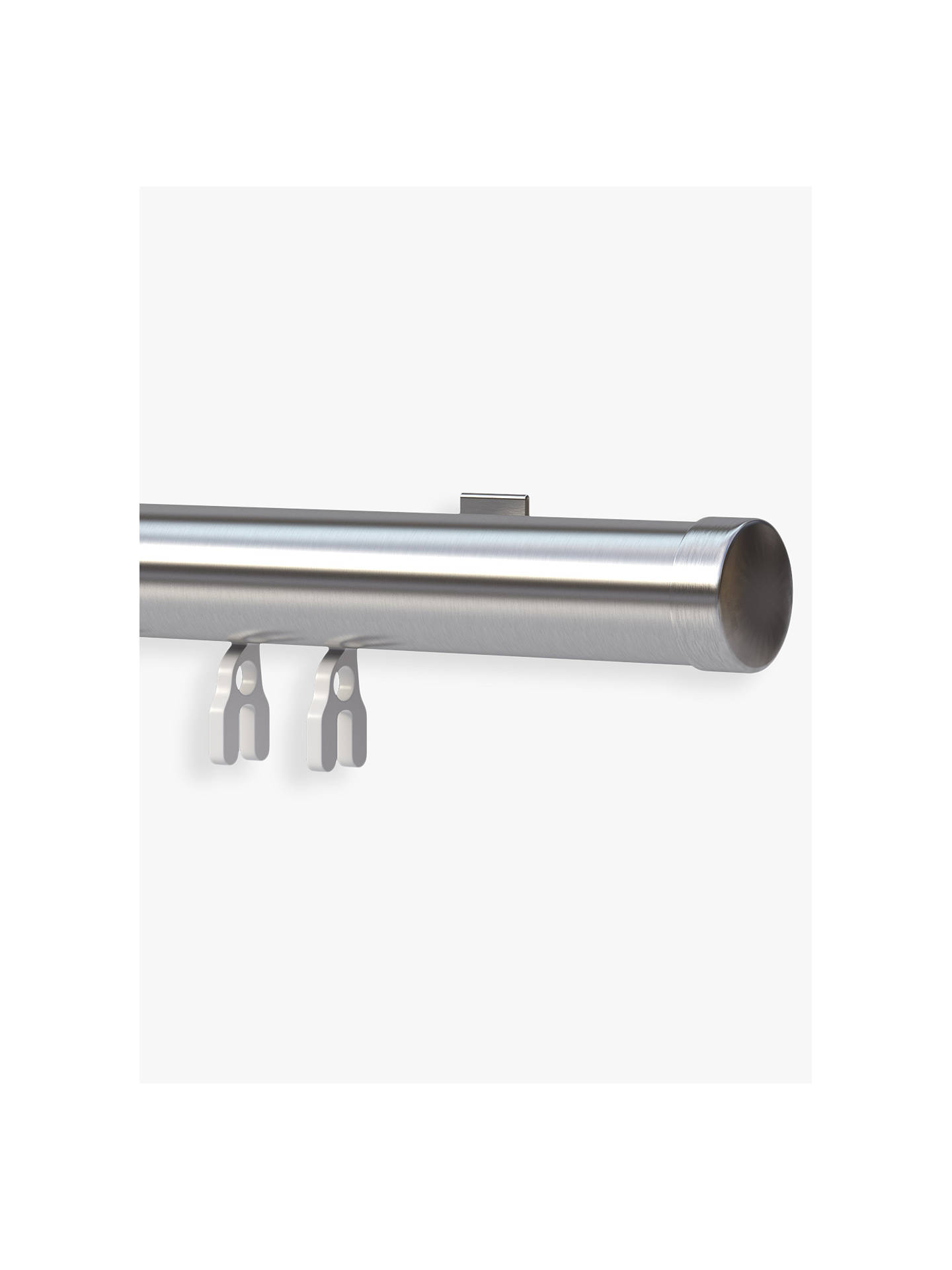 BuyJohn Lewis & Partners Perfect Pleat Curtain Track, Satin Silver, Dia.28mm x L150cm Online at johnlewis.com