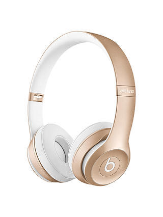 Buy Beats™ by Dr. Dre™ Solo 2 Wireless On-Ear Headphones with Bluetooth, Icon Collection, Gold Online at johnlewis.com