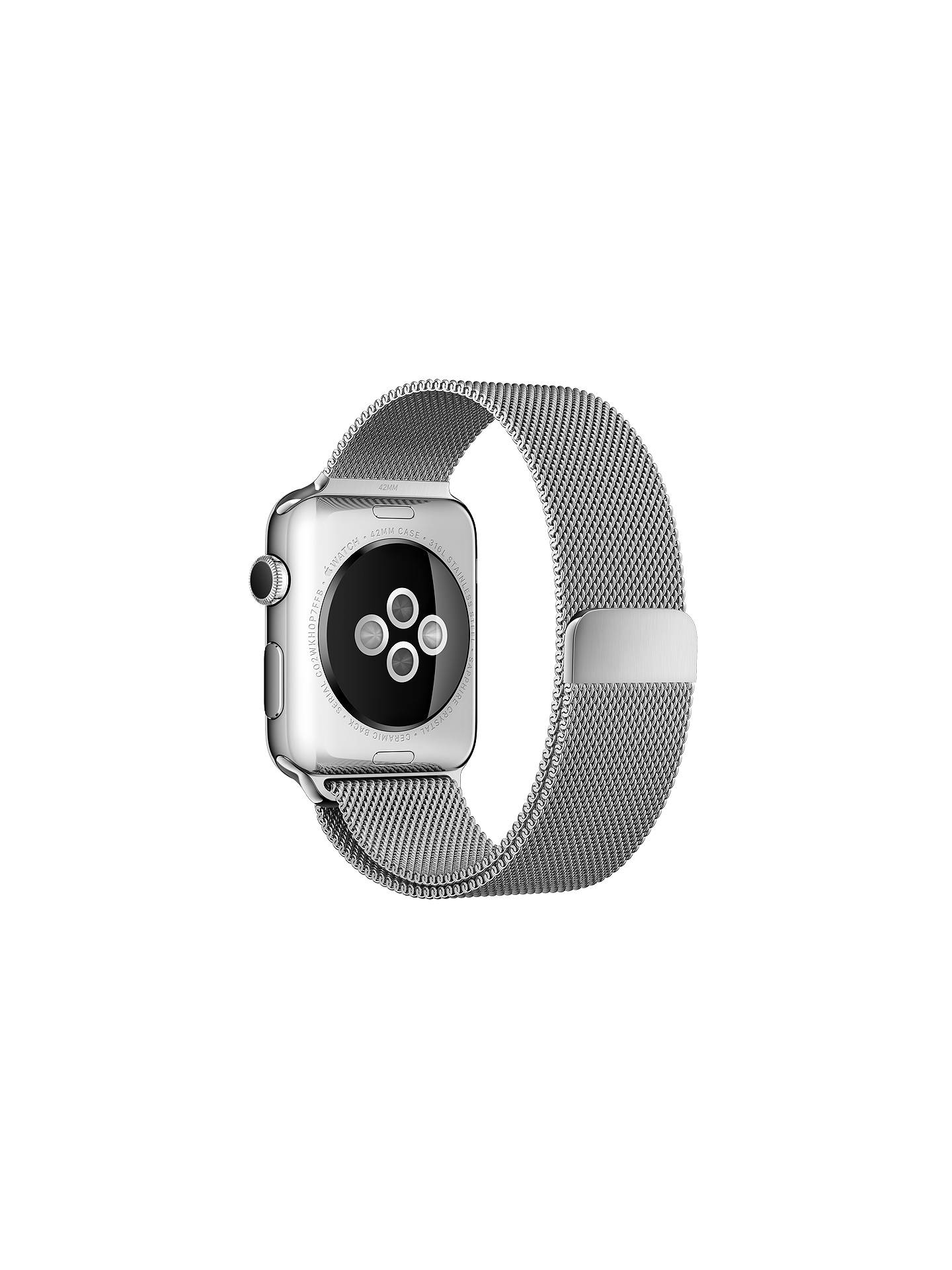 da968b128f9 ... Buy Apple Watch with 42mm Stainless Steel Case & Milanese Loop Online  at johnlewis. ...