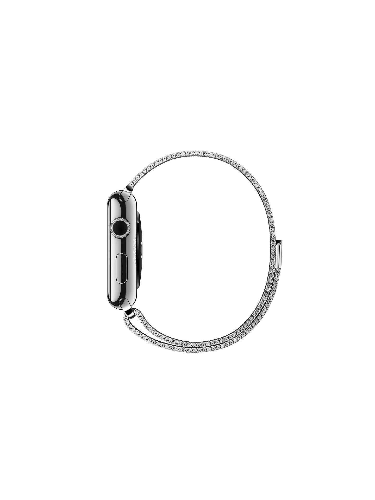 406beaa37ac ... Buy Apple Watch with 42mm Stainless Steel Case & Milanese Loop Online  at johnlewis.com