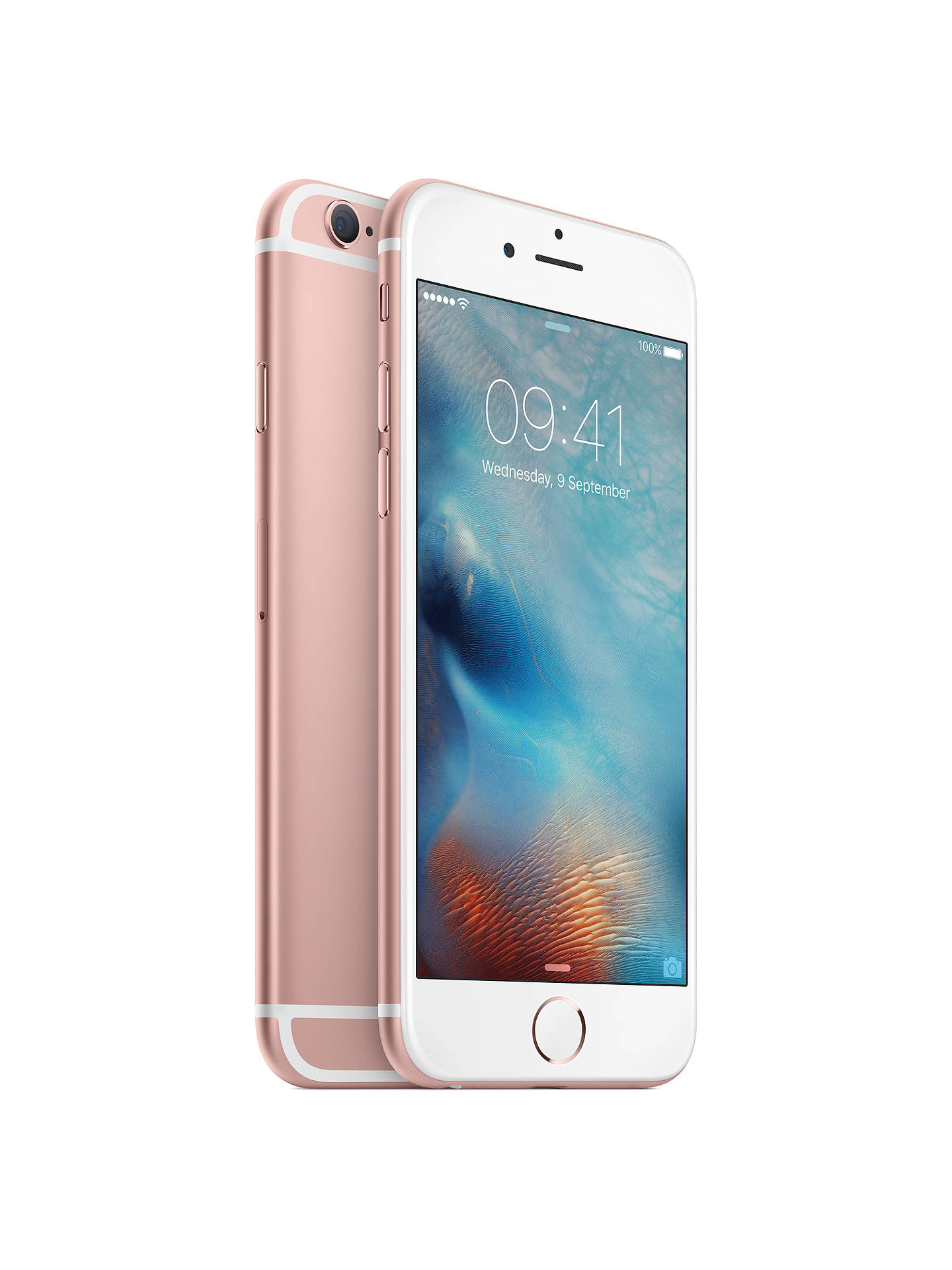 "BuyApple iPhone 6s, iOS, 4.7"", 4G LTE, SIM Free, 128GB, Rose Gold Online at johnlewis.com"