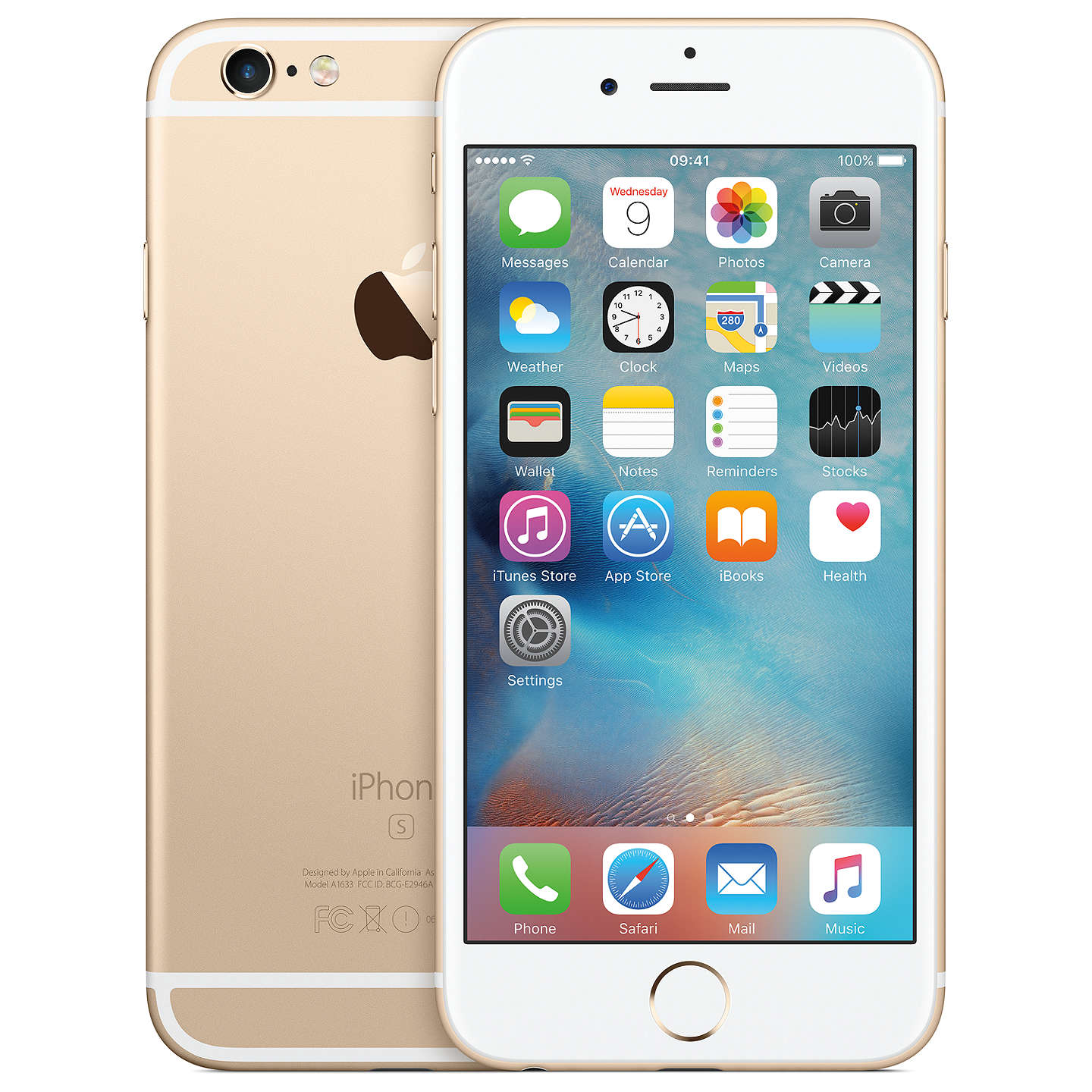 "BuyApple iPhone 6s, iOS, 4.7"", 4G LTE, SIM Free, 128GB, Gold Online at johnlewis.com"