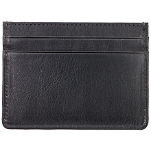 Buy John Lewis Leather Card Holder, Black Online at johnlewis.com