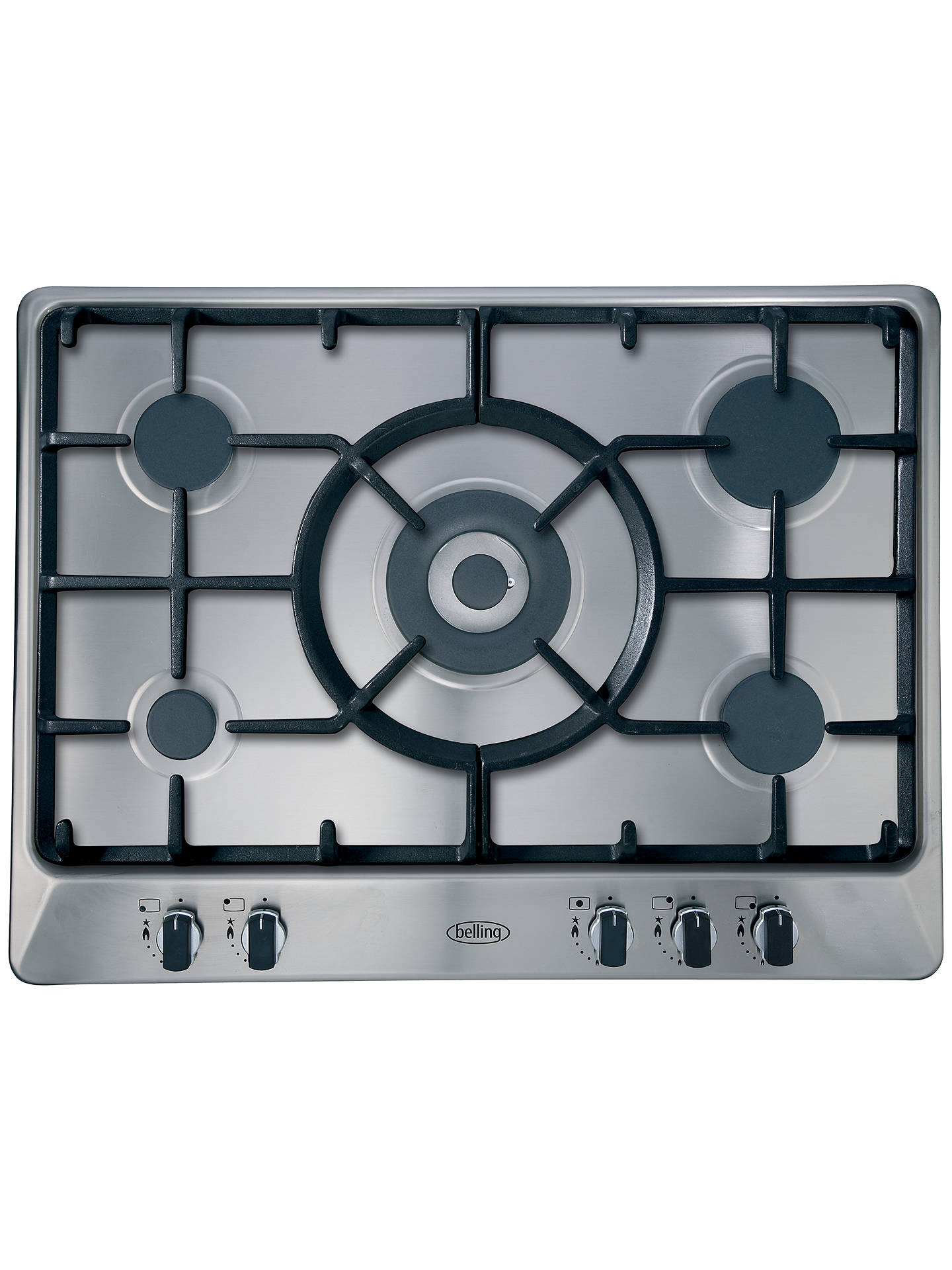 BuyBelling GHU70GC Built-In Gas Hob, Stainless Steel Online at johnlewis.com
