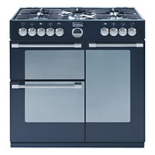 Buy Stoves Sterling 900DFT Dual Fuel Range Cooker, Black Online at johnlewis.com