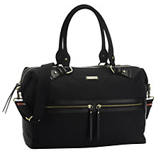 Buy Storksak Caroline Nylon Baby Changing Bag, Black Online at johnlewis.com