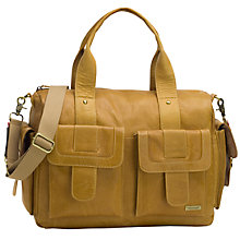 Buy Storksak Sofia Leather Baby Changing Bag, Tan Online at johnlewis.com