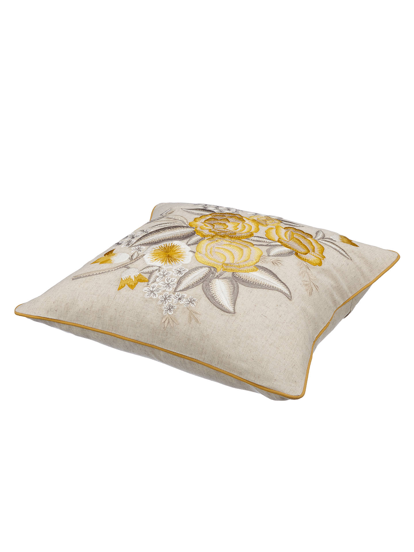john lewis country flowers cushion yellow at john lewis. Black Bedroom Furniture Sets. Home Design Ideas
