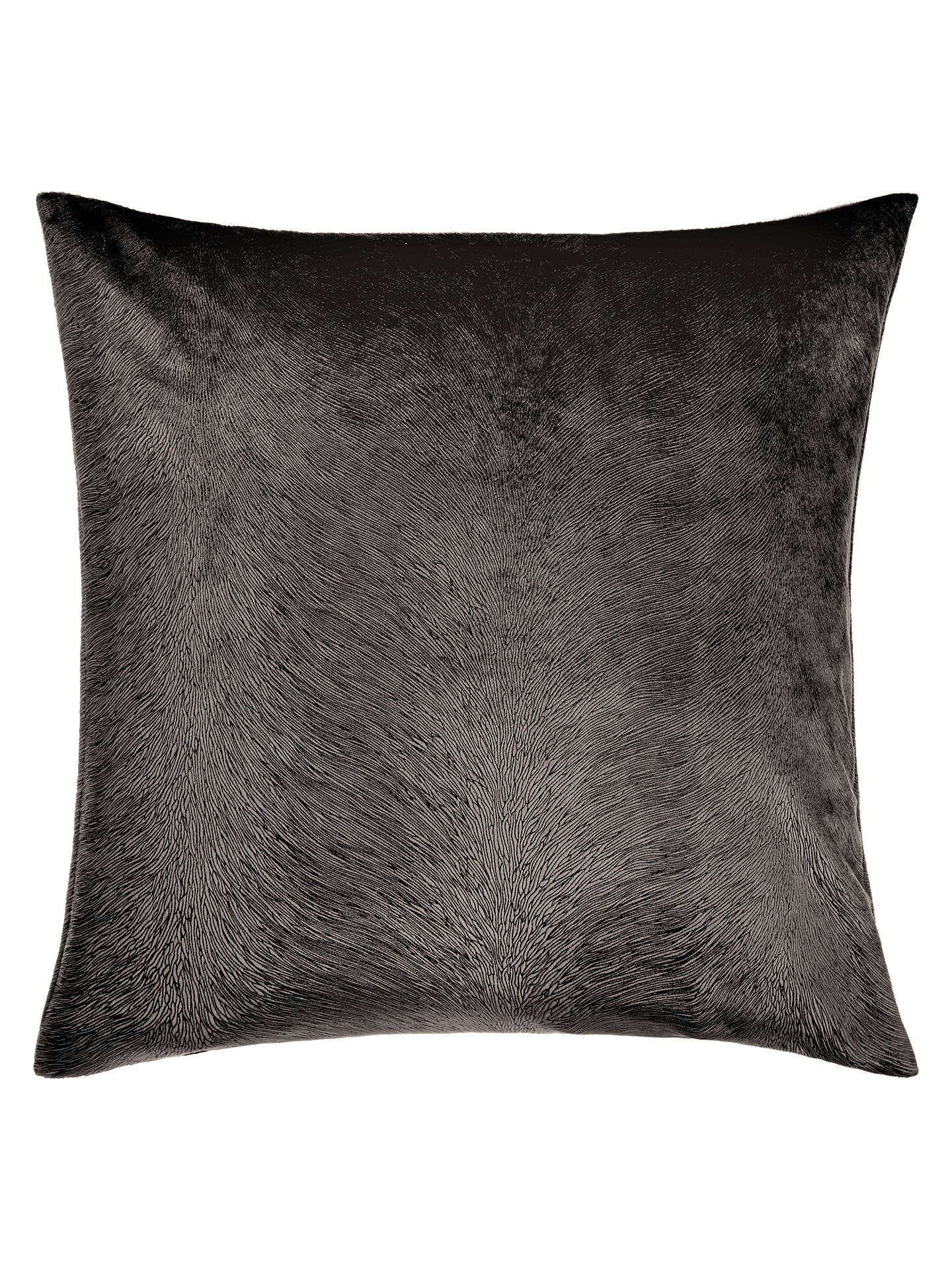Buy John Lewis & Partners Italian Cut Velvet Square Cushion, Mole Online at johnlewis.com
