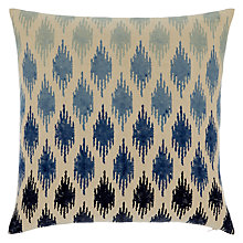 Buy John Lewis Ikat Ombre Cushion, Indian Blue Online at johnlewis.com