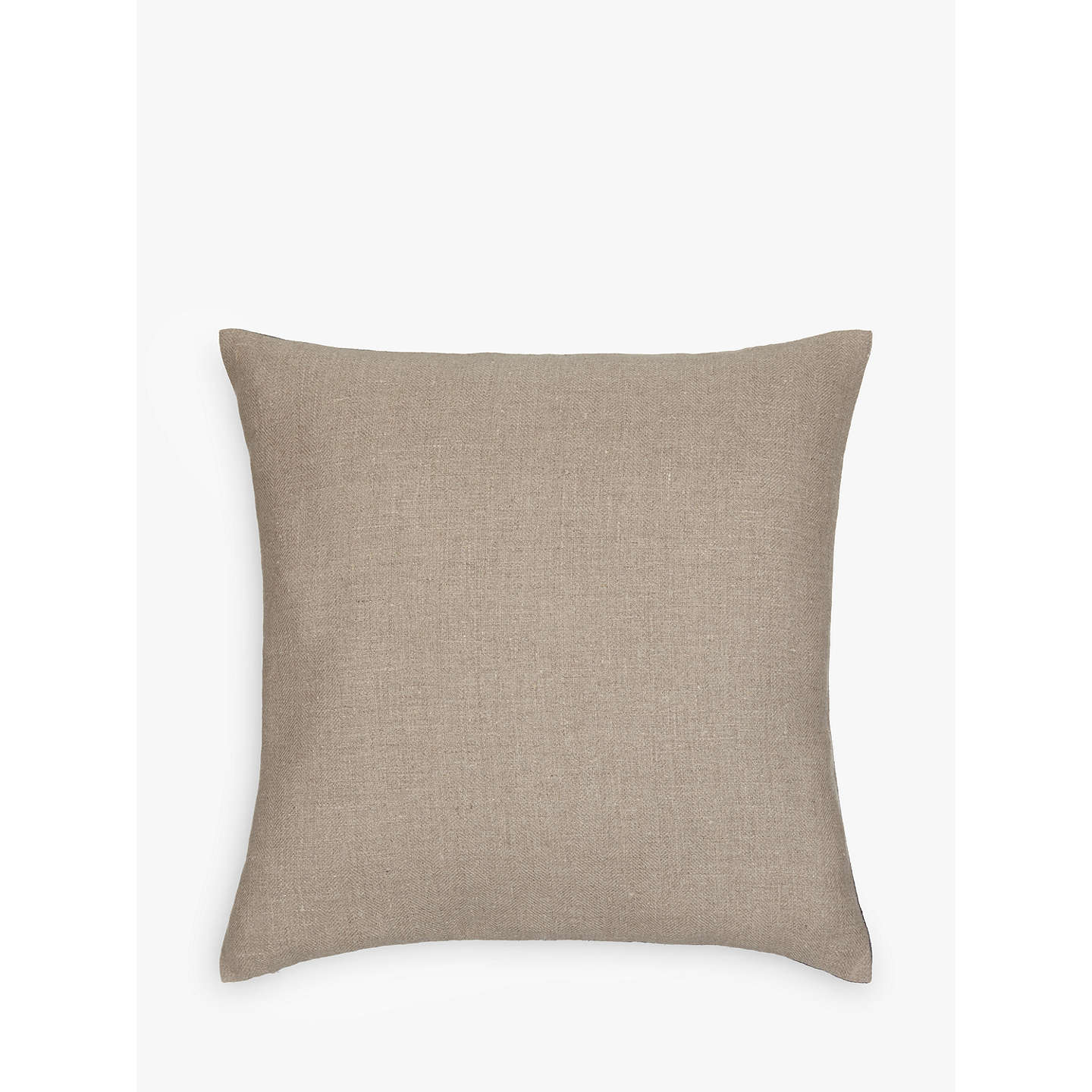 BuyJohn Lewis Herringbone Linen Cushion, Steel Online at johnlewis.com