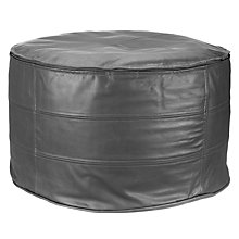Buy John Lewis Leather Pouffe Online at johnlewis.com
