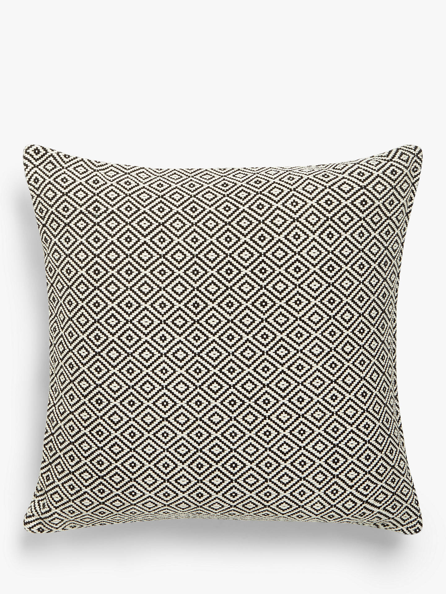 Buy John Lewis & Partners Diamonds Cushion, Black / White Online at johnlewis.com