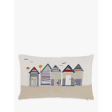 Buy John Lewis Beach Huts Cushion Online at johnlewis.com