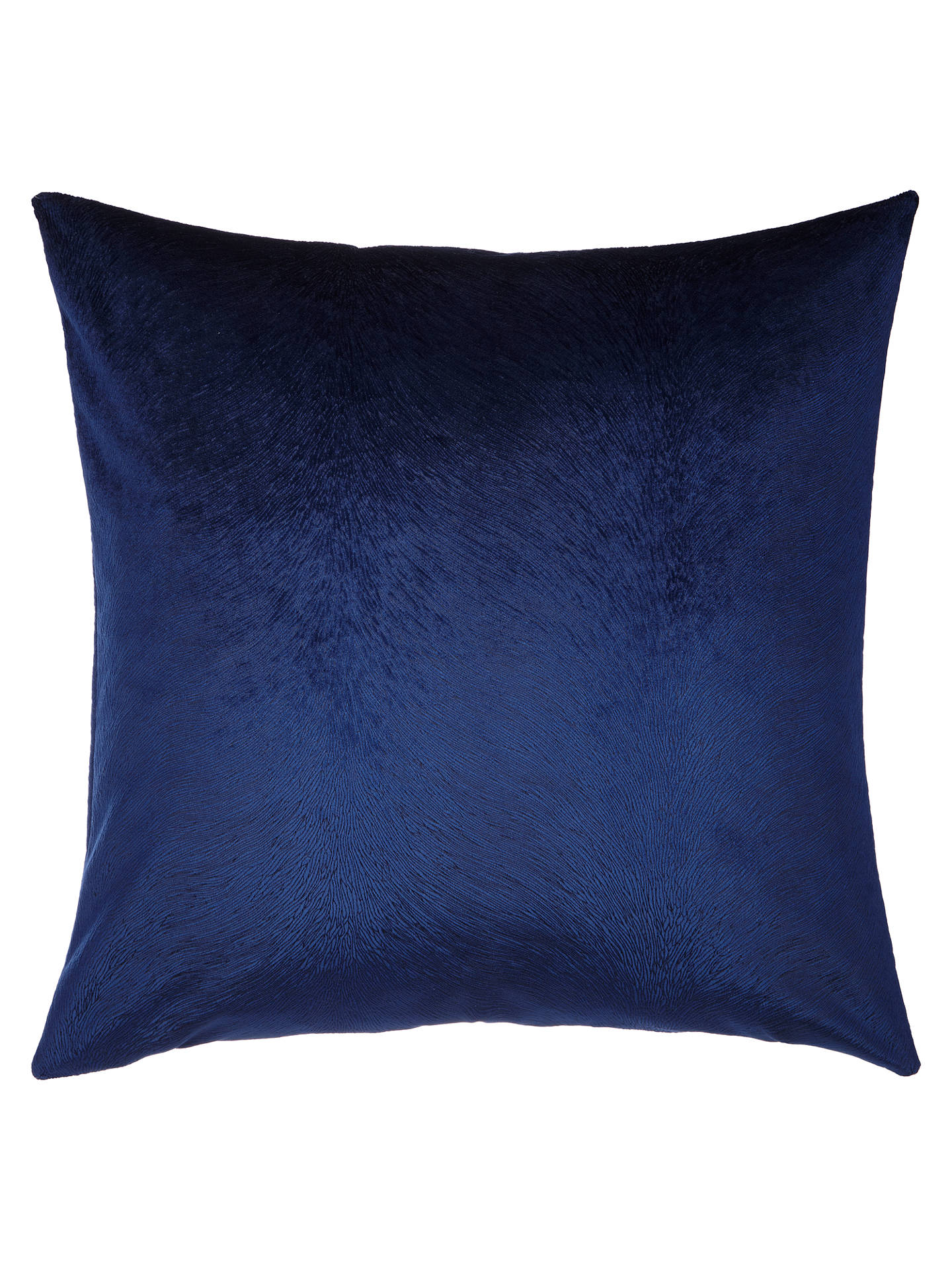 Buy John Lewis & Partners Italian Cut Velvet Square Cushion, Sapphire Blue Online at johnlewis.com