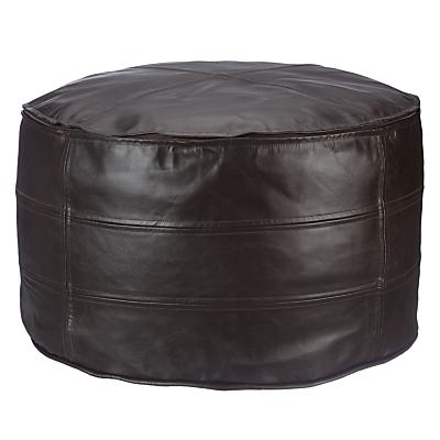 John Lewis Leather Pouffe