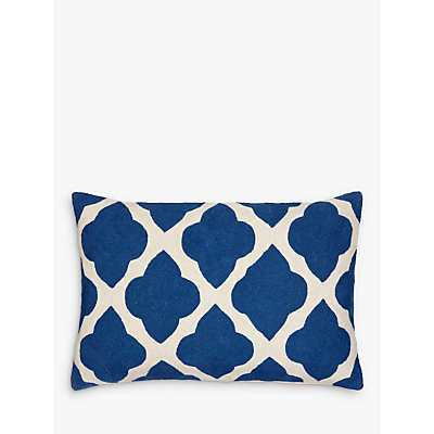 John Lewis Taz Cushion, Indian Blue