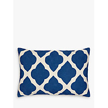 Buy John Lewis Taz Cushion, Indian Blue Online at johnlewis.com