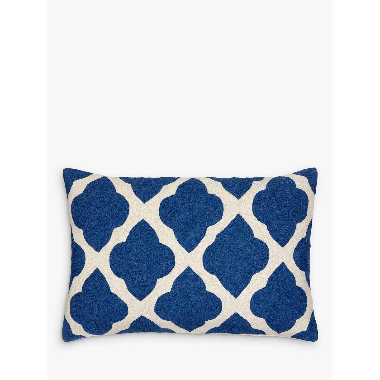 john lewis taz cushion indian blue at john lewis. Black Bedroom Furniture Sets. Home Design Ideas