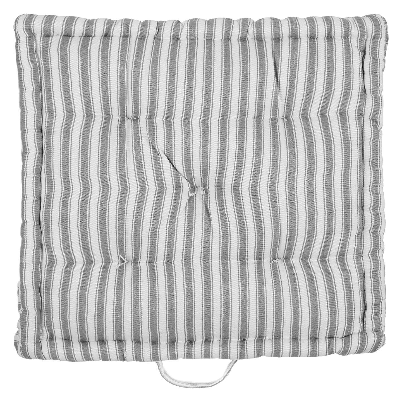john lewis ticking stripe boxed seat pad at john lewis. Black Bedroom Furniture Sets. Home Design Ideas
