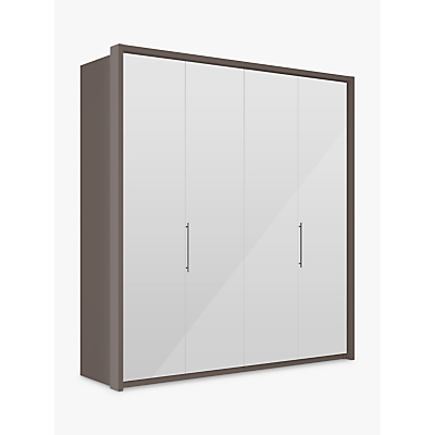 John Lewis Girona 200cm Wardrobe With Glass or Mirrored Hinged Doors