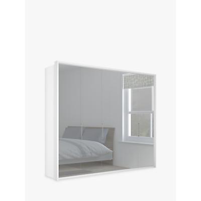 John Lewis & Partners Girona 250cm Wardrobe With Glass or Mirrored Hinged Doors