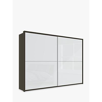 John Lewis & Partners Girona 300cm Wardrobe With Glass or Mirrored Sliding Doors